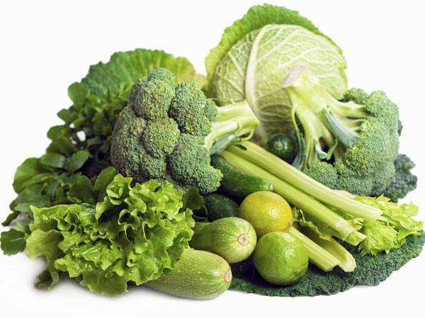 Сырые зеленые овощи для долголетия