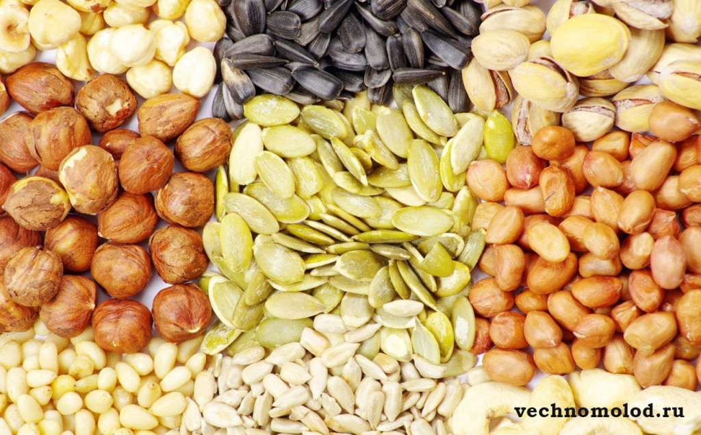 Семена и орехи для долголетия